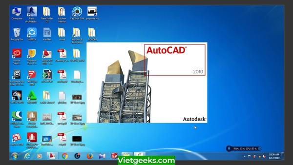 Phần mềm AutoCad 2010