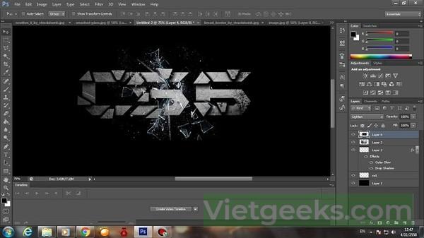 CS6 có tính năng tạo nét hình ảnh rất tốt