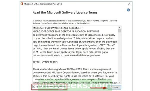 Đồng ý với điều khoản của Microsoft