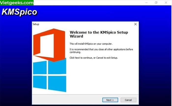 Giao diện màn hình sau khi giải nén và chạy file download
