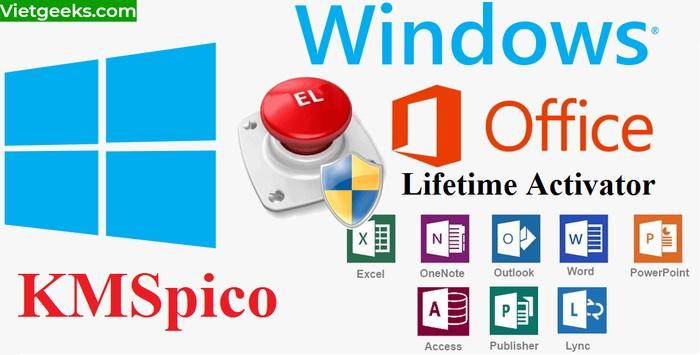Kmspico hỗ trợ hoạt động ở nhiều phiên bản Windows, office khác nhau