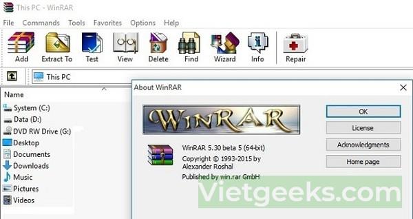 Điểm sơ các ưu điểm tuyệt vời của phần mềm WinRAR