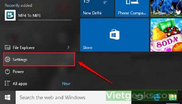 Dùng tùy chọn Setting để tắt nhanh máy tính Win 10