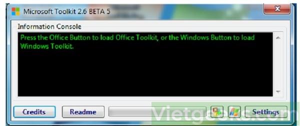 Giao diện tool Microsoft Toolkit