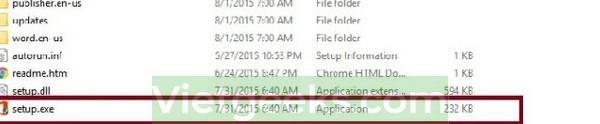 Nhấn vào file setup.exe để cài đặt