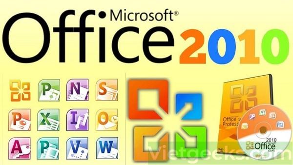Những thành phần chính có trong bộ cài Office phiên bản 10