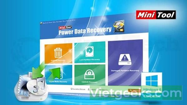 Phần mềm khôi phục dữ liệu MiniTool Power Data Recovery tốt nhất hiện nay