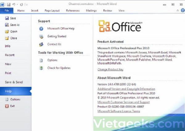 Thực hiện đúng các thao tác dưới đây để sử dụng Office 10 Active thoải mái