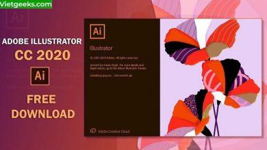 Giao diện phần mềm Adobe Illustrator CC 2020